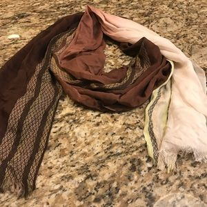 Brown ,beige , light green charming Charlie scarf
